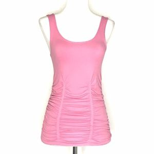 🌈 Laundry Shelli Segal Pink Ruched Tank A030636